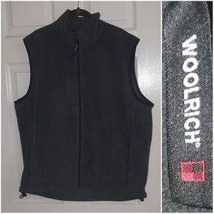 Woolrich Gray Fleece Full Zip Performace Vest